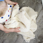 Pure Love crochet pattern baby blanket - baby blanket crochet pattern - crochet baby blanket pattern - cream organic cotton baby blanket by Little Monkeys Design