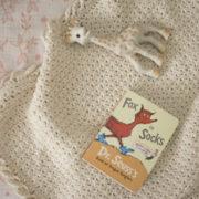 Pure Love crochet pattern baby blanket - baby blanket crochet pattern - crochet baby blanket pattern - organic cotton baby blanket by Little Monkeys Design - organic cotton baby blanket
