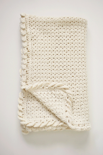 Crochet Baby Blanket Cotton Pattern : Pure Love Organic Cotton Baby Blanket by Little Monkeys Design