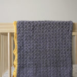Royal Baby Blanket crochet pattern by Little Monkeys Design - organic baby blanket - baby blanket crochet pattern kit