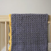 Royal Baby Blanket crochet pattern by Little Monkeys Design - organic baby blanket - baby blanket crochet pattern kit