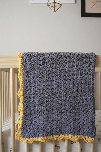 Royal Organic Baby Blanket By Little Monkeys Design