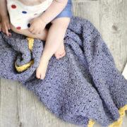 Royal Baby Blanket crochet pattern by Little Monkeys Design - perfect baby blanket crochet pattern for a princess - organic baby blanket - baby blanket crochet pattern kit