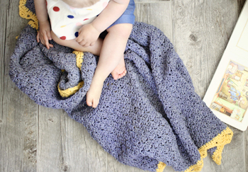Royal Baby Blanket crochet pattern by Little Monkeys Design - perfect baby blanket crochet pattern for a princess - organic baby blanket - baby blanket crochet pattern kit