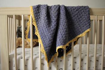 Royal Baby Blanket crochet pattern - easy crochet baby blanket pattern by Little Monkeys Design - organic baby blanket - baby blanket crochet pattern kit