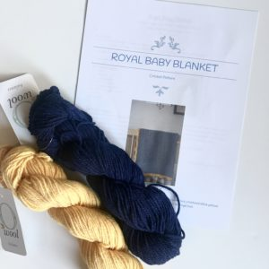 Royal Baby Blanket kit - baby blanket crochet pattern kit by Little Monkeys Design
