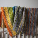 Sea of Colors modern baby blanket crochet pattern - modern baby blanket crochet pattern