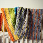 Sea of Colors baby blanket crochet pattern - modern baby blanket crochet kit - modern baby blanket