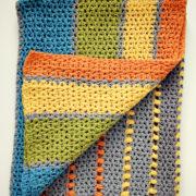 Sea of Colors baby blanket crochet pattern by Little Monkeys Design - modern baby blanket crochet kit - modern baby blanket - modern baby blanket crochet pattern