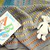 Sea of Colors baby blanket crochet pattern - colorful crochet baby blanket pattern - modern baby blanket - modern baby blanket crochet pattern