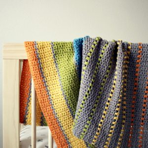 Sea of Colors baby blanket crochet pattern - toddler crochet baby blanket in many colors - modern baby blanket crochet pattern