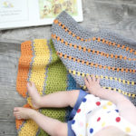 Sea of Colors baby blanket crochet pattern - toddler crochet baby blanket in many colors - modern baby blanket crochet kit - modern baby blanket - modern baby blanket crochet pattern