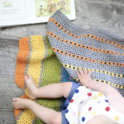 Sea of Colors baby blanket crochet pattern - toddler crochet baby blanket in many colors - modern baby blanket crochet kit - modern baby blanket - modern baby blanket crochet pattern