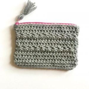 Star clutch crochet pattern - small purse crochet pattern - by Little Monkeys Design