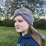 Ava Ear Warmer Crochet Pattern by Little Monkeys Design - girls crochet pattern - easy ear warmer pattern - knotted ear warmer