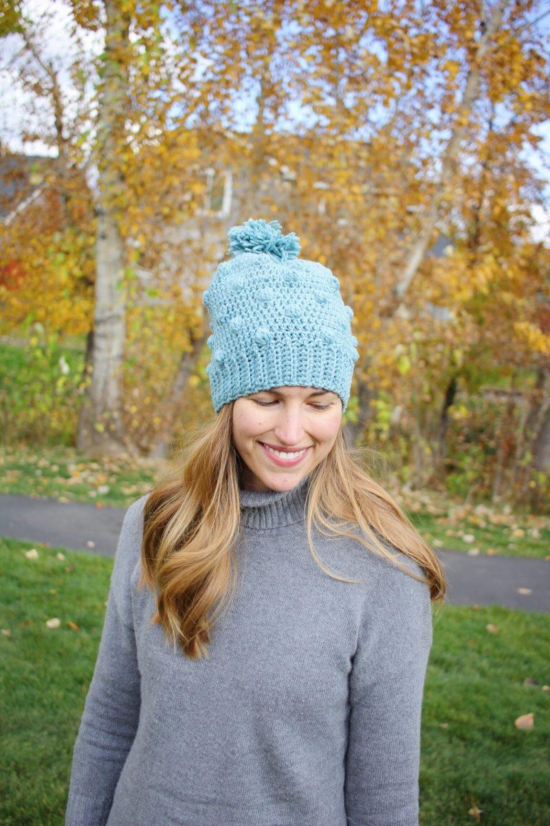Snowballs Hat crochet pattern by Little Monkeys Designs