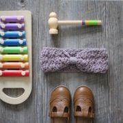 Ava Ear Warmer crochet pattern - knotted ear warmer - easy ear warmer crochet pattern by Little Monkeys Design