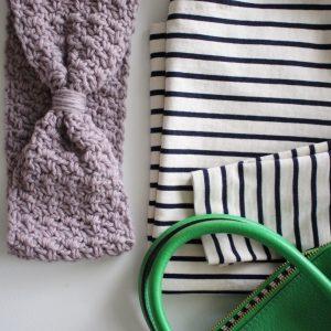Ava Ear Warmer Crochet Pattern for teens by Little Monkeys Design