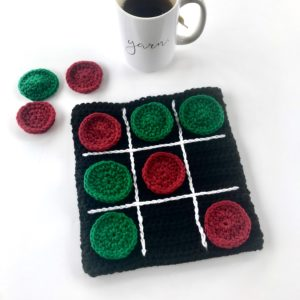 Tic Tac Toe Travel Board Game crochet pattern by Little Monkeys Design