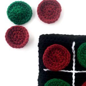 Tic Tac Toe Travel Board Game crochet pattern by Little Monkeys Design