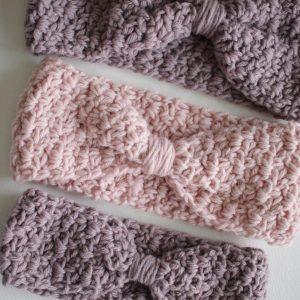 Ava Ear Warmers Crochet Pattern by Little Monkeys Designs