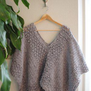 Lacy Poncho Crochet Pattern by Little Monkeys Designs