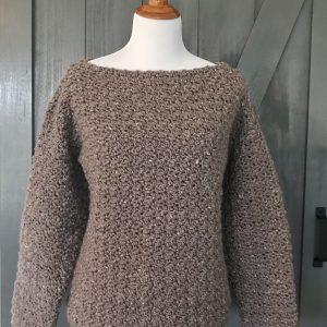 Super Cozy Pullover sweater crochet pattern by Little Monkeys Design