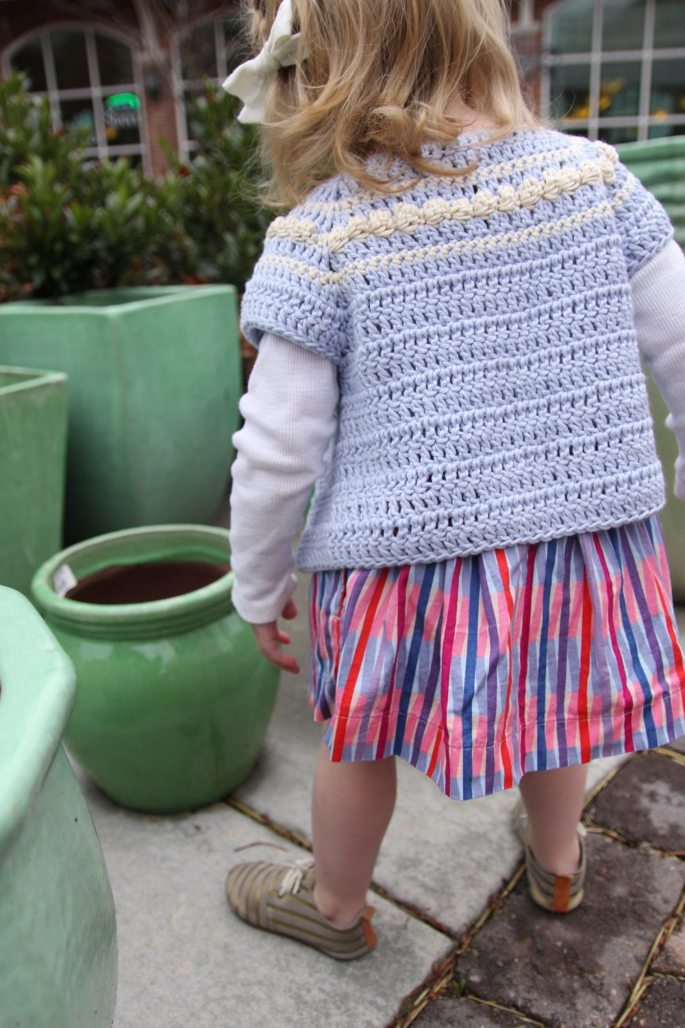 Eloise Cardigan Crochet Pattern by Little Monkeys Designs