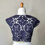Paris in Summer bolero style sweater cardigan crochet pattern in cotton by Little Monkeys Design