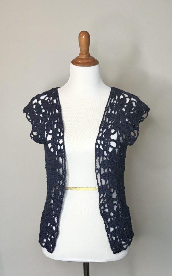 Paris in Summer cardigan sweater crochet pattern by Little Monkeys Designs