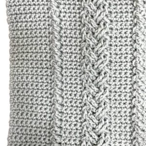 Braided Cable Stitch crochet pattern square by Mastering Crochet