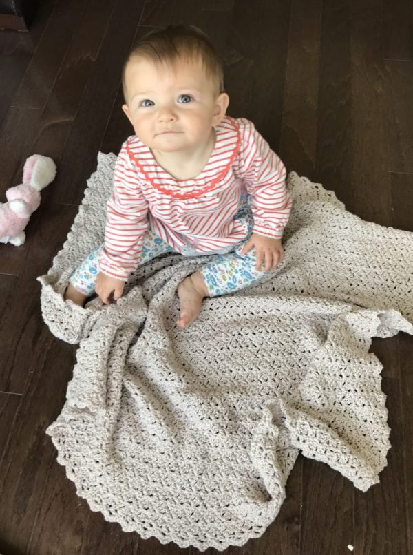 Oh, So Sweet baby blanket crochet pattern - heirloom style baby blanket crochet pattern by Little Monkeys Design
