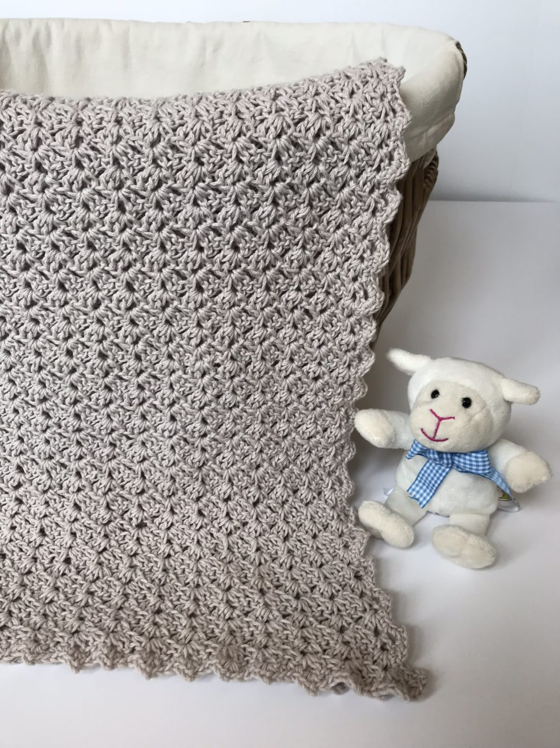 Oh, So Sweet baby blanket crochet pattern by Little Monkeys Design in silver