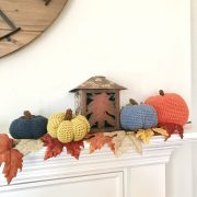 Pumpkins Crochet Pattern by Little Monkeys Design - fall home decor
