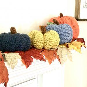 Pumpkins Crochet Pattern by Little Monkeys Design - modern farmhouse decor for the fall