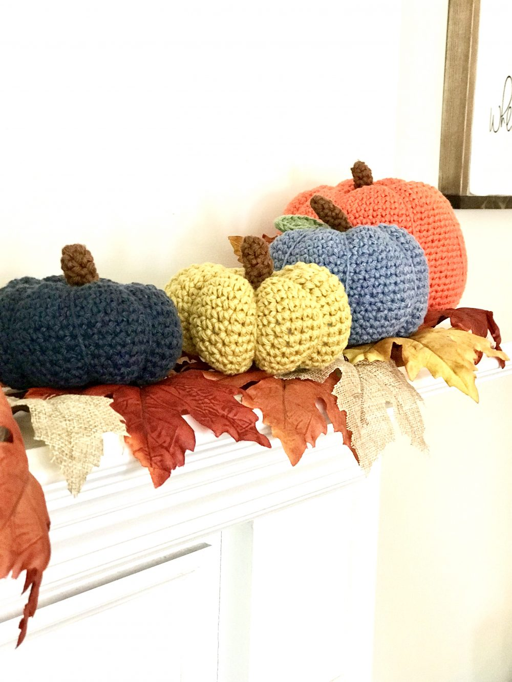 Pumpkins Crochet Pattern by Little Monkeys Design – modern farmhouse decor for the fall