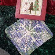 Snowflake Hot Pad crochet pattern - diy holiday gift idea - by Little Monkeys Designs