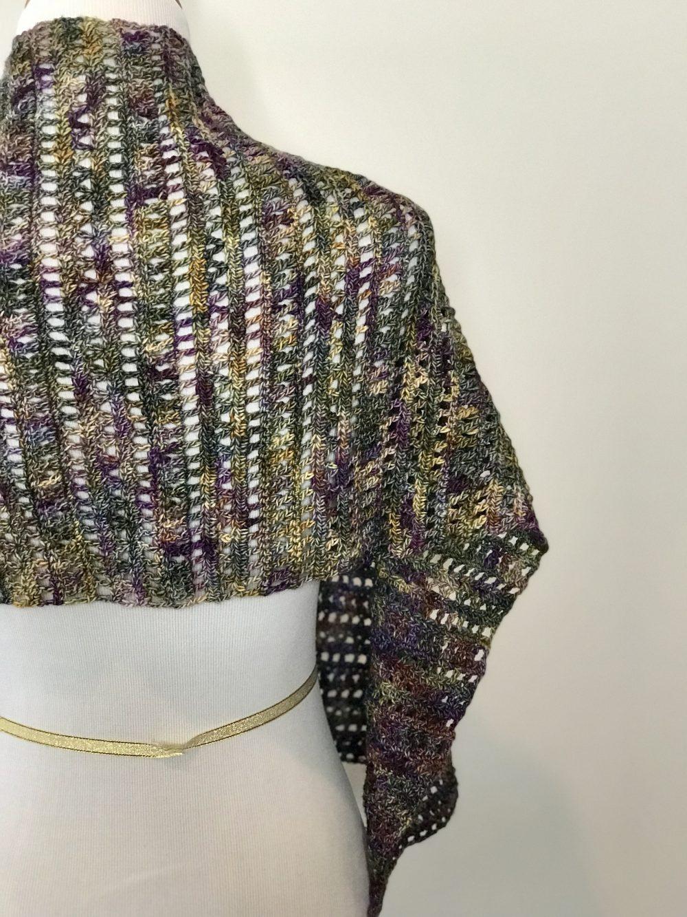 Harvest Warmth Modern Scarf Shawl Crochet Pattern Little Monkeys