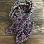 Harvest Warmth Modern Shawl crochet pattern by Little Monkeys Designs - fun scarf crochet pattern