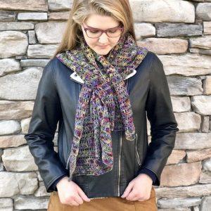 Harvest Warmth Modern Shawl crochet pattern by Little Monkeys Designs - modern scarf crochet pattern