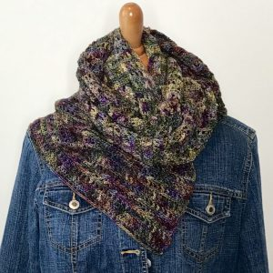 Harvest Warmth Modern Shawl crochet pattern by Little Monkeys Designs - easy shawl crochet pattern