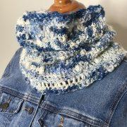Snow Clouds Cowl crochet pattern by Little Monkeys Designs