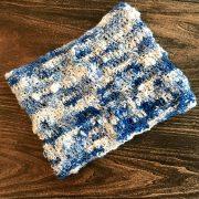 Snow Clouds Cowl crochet pattern by Little Monkeys Designs - art yarn cowl