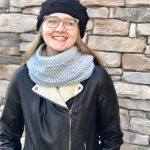 Snow Drifts Cowl and Hat crochet pattern by Little Monkeys Designs - crochet pattern for cowl and hat matching set