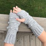Snow Drifts Fingerless Gloves crochet pattern by Little Monkeys Designs - crochet gloves pattern