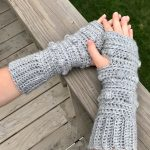 Snow Drifts Fingerless Gloves crochet pattern by Little Monkeys Designs - fun winter gloves - Wrapped up in Warmth collection of crochet patterns