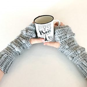 Snow Drifts Fingerless Gloves crochet pattern by Little Monkeys Designs - gloves crochet pattern