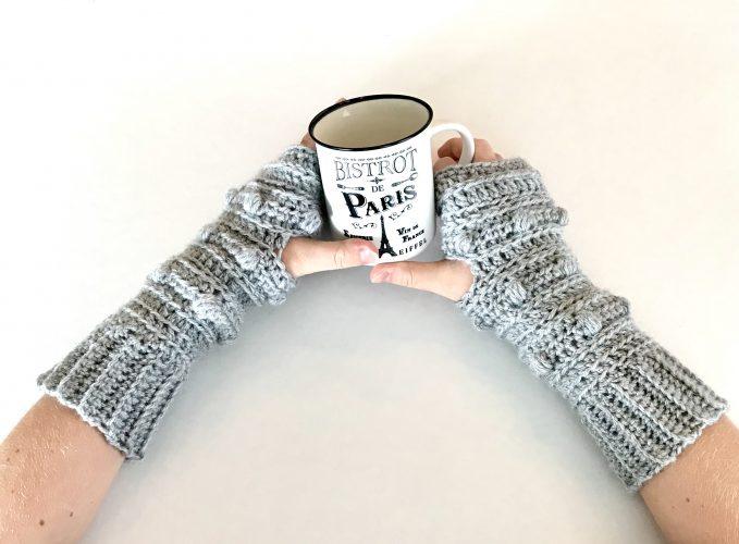 Snow Drifts Fingerless Gloves crochet pattern by Little Monkeys Designs - gloves crochet pattern