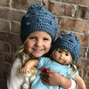 Snow Drifts Hat crochet pattern by Little Monkeys Designs - girls hat crochet pattern - Wrapped up in Warmth collection of crochet patterns