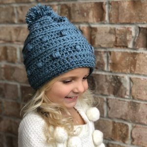 Snow Drifts Hat crochet pattern by Little Monkeys Designs - hat for girls